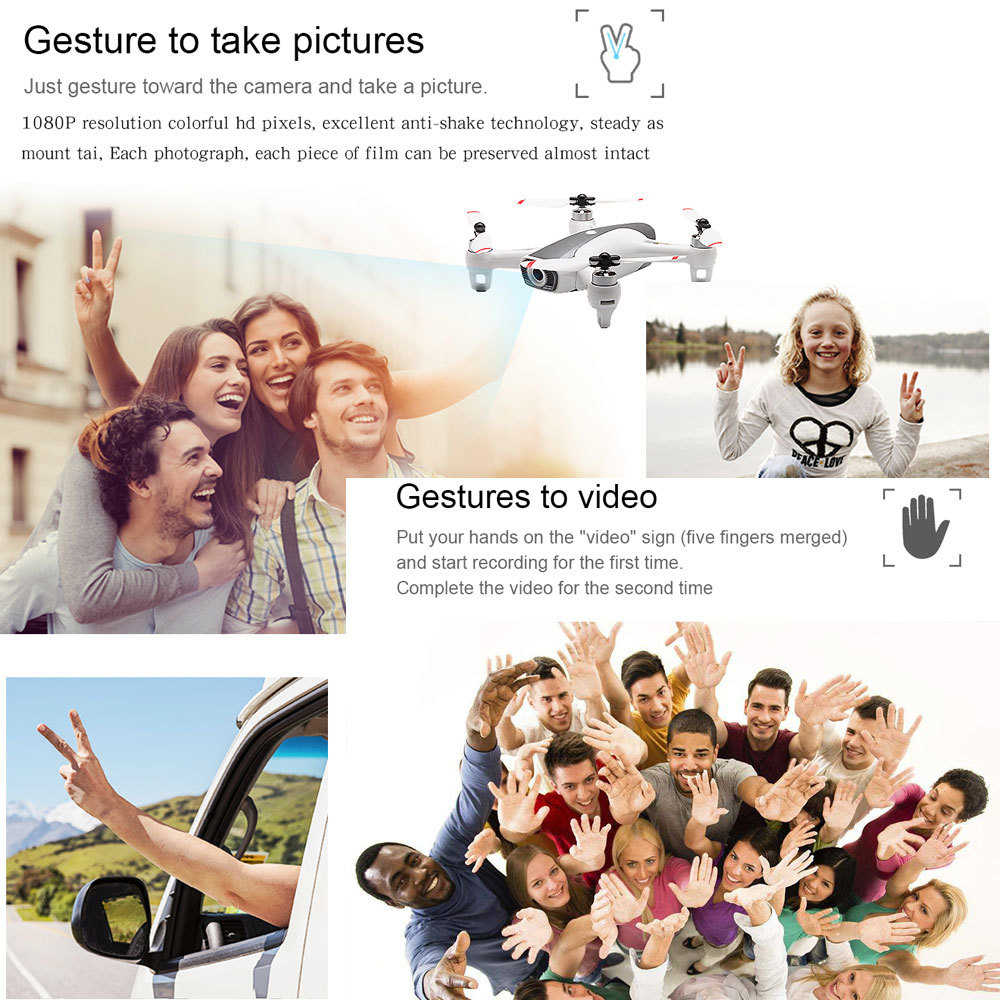 Image 3 - Newest Syma W1 Drone Gps 5g Wifi Fpv With 1080p Hd Adjustable Camera Following Me Mode Gestures Rc Quadcopter Vs F11 Sg906 Dron-in RC Helicopters from Toys & Hobbies