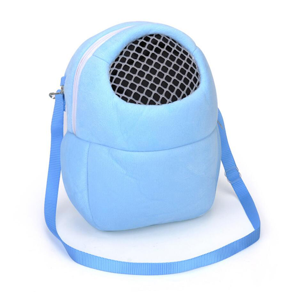 Blue Small Animal Carriers Pet Hamster Accessory Coral Fleece Chinchilla Bunny Product Hedgehog Plush House Squirrel Rabbit Cage