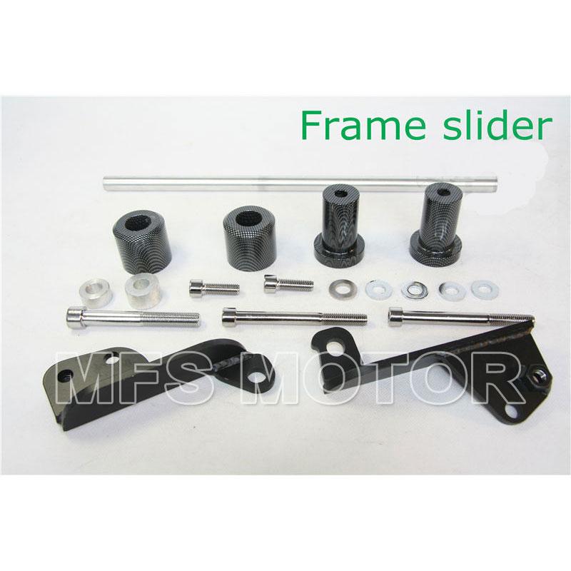 ФОТО Carbon motorcycle parts No Cut Frame Slider For Honda 2003 2004 2005 2006 CBR 600RR CBR600RR RR
