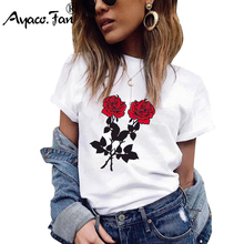 Plus Size Girls T-Shirts 2019 Summer New O-Neck Floral Print Women T-Shirt for Female Lady Casual Sl