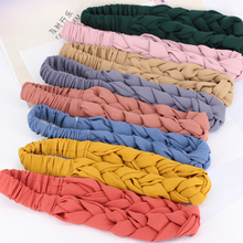 Korean Braid Hairband Women Fabric Knotted Headband Vintage Twist Turban Hair Accessories Fixed Wide Band hair band