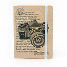Vintage Camera Kraft Paper Notebook Notepad Desk Planner Sketchbook A4 Stationary Agenda Planner Organizer(China)