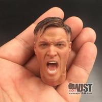 DID D80124 1:6 Proportion German Mouth billed Machine Gunner Shouting Head Sculpture Action Figure Moderl