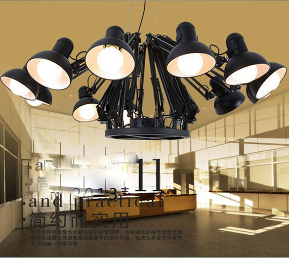 Modern home decoration 691216 head living room spider flexible modern home decoration 691216 head living room spider flexible pendant light study light with led bulbs free shipping in chandeliers from lights aloadofball Images