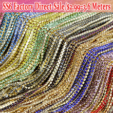 Lowest Price SS6 All Colors Rhinestones in craft Clear Crystal strass termoadhesivos Sewing On Chain For Caking decorations