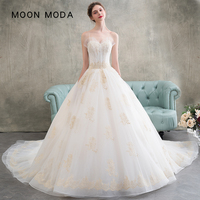 Sleeveless lace wedding dress 2018 strapless A Line wedding gowns bride noble real photo weddingdress vestido de noiva