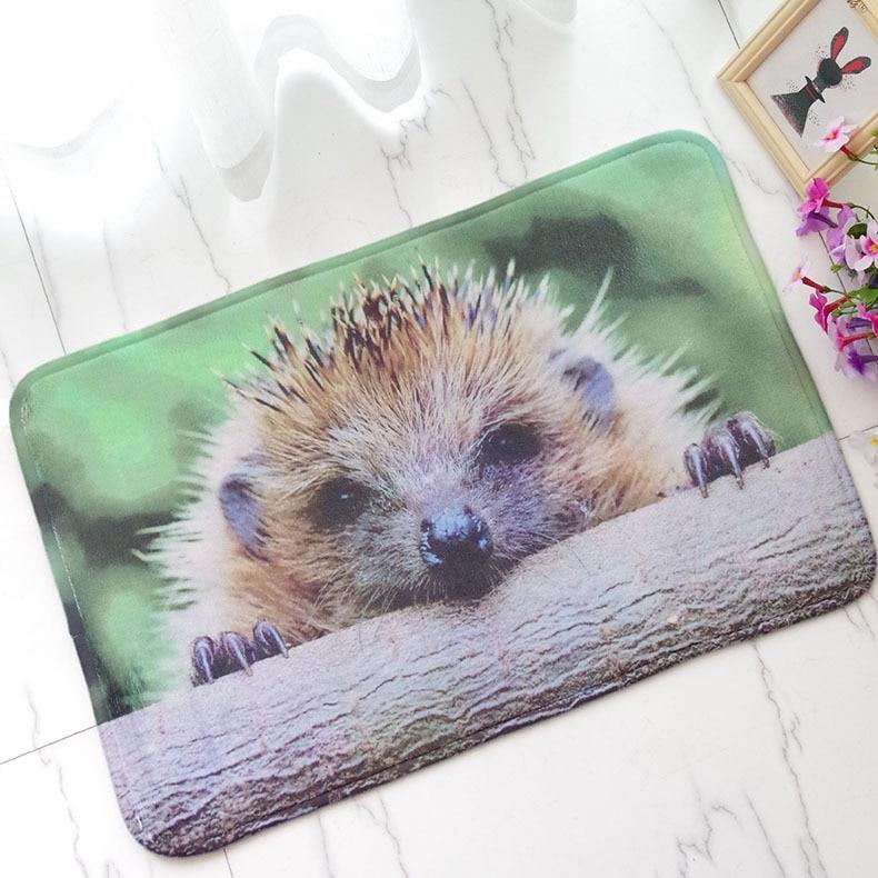 Free Shipping 1 pcs Embroidered printing Non-slip mats Big Door Bathroom Carpet Bedroom Door Soft High Quality Floor Mat BAHE018