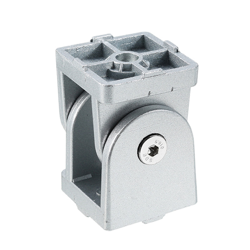 SULEVE New 1PC Zinc Alloy Industrial Adjustable Hinge Angle Connector for 4040 series Aluminum Profile Cabinet Hardware