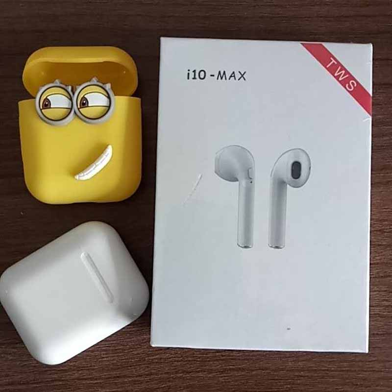 Genuino i10 max IFANS 1:1 Air TWS Baccelli senza fili di Bluetooth stereo super bass Auricolari Per cuscinetti auricolari apple xiaomi airdot meizu pop