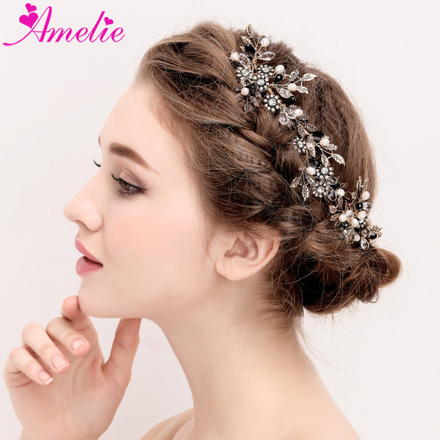 wholesaler 6pcs lot punk gothic ladies hair accessories bride wedding hair comb side hair jewellery wedding