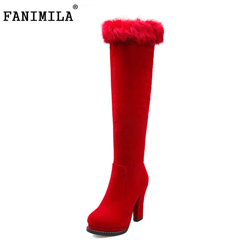 women over knee boots high heel botas riding platform fashion long boot fur warm winter quality footwear shoes P22166 size 33-43 pritivimin fn81 winter warm women real wool fur lined shoes ladies genuine leather high boot girl fashion over the knee boots