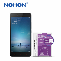 NOHON BM45 3060mAh High Capacity New Li Ion Battery Replacement For Xiaomi Redmi Note2 Top Quality