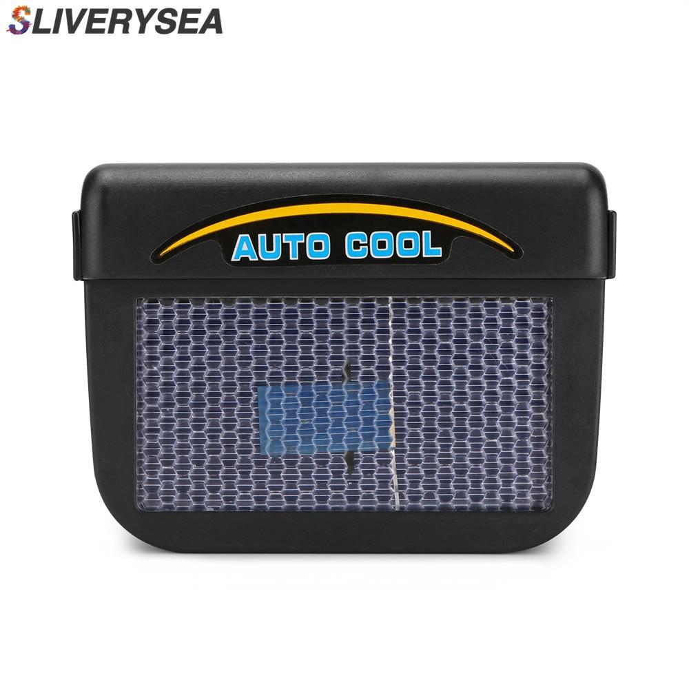 Car Solar Exhaust Fan Powered Auto Window Air Vent Ventilation Strip System accessories