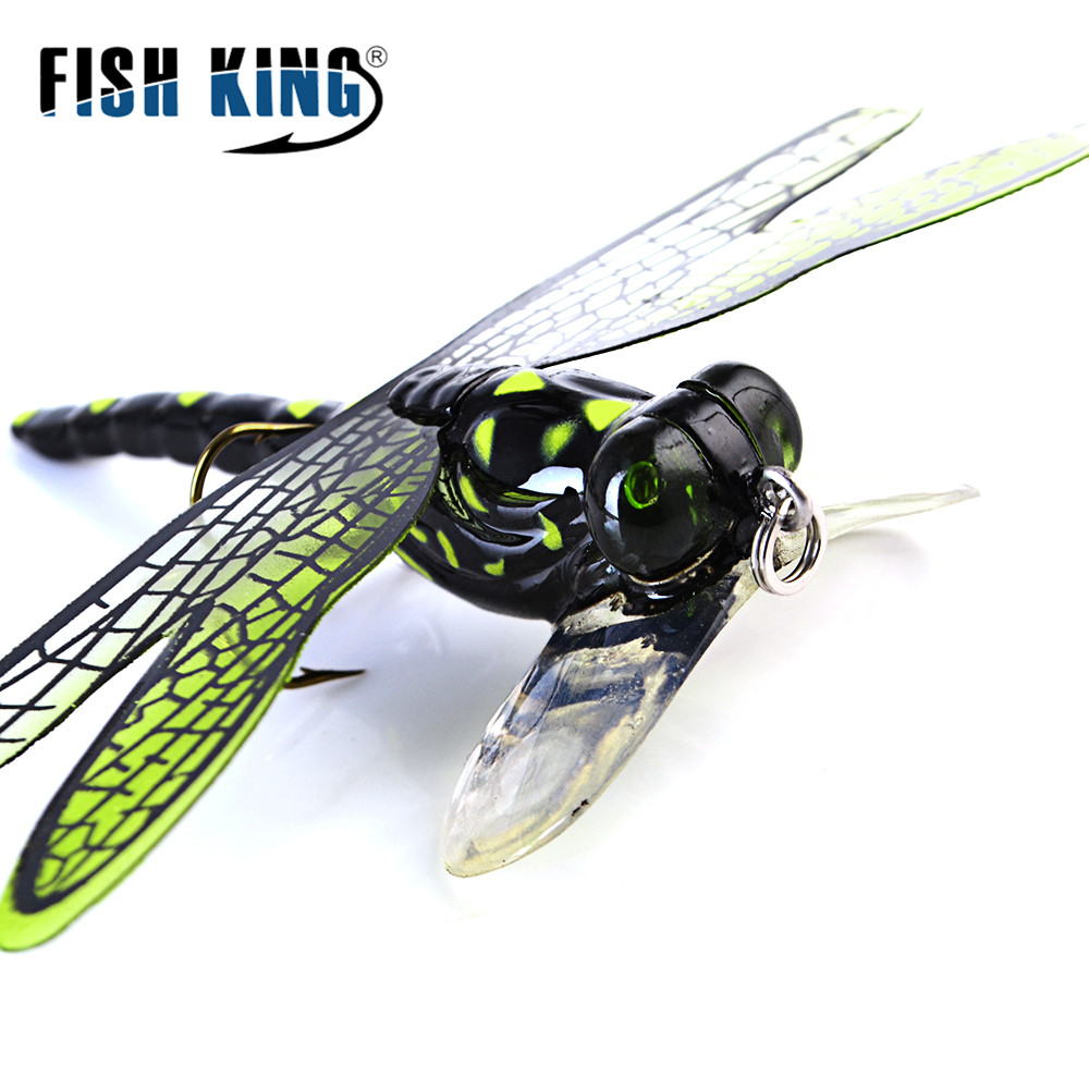 Topwater Dragonfly Dry Flies Insect Fly Fishing Lure 6g 75mm Trout Popper Artificial Bait Wobblers For Trolling Hard Lure image