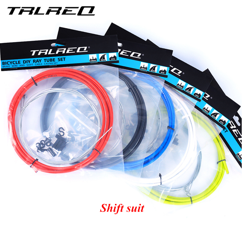 TRLREQ MTB Bike Brake Line Tube Kits 5mm Mountain/Road Bicycle Brake Cable 4mm Shift Gea ...