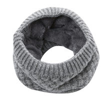 Frauen Stricken Wolle Schal Winter Warm Ring Schals Verdickt Fleece Innen Schalldämpfer Hals Wärmer Loop Schals # L(China)