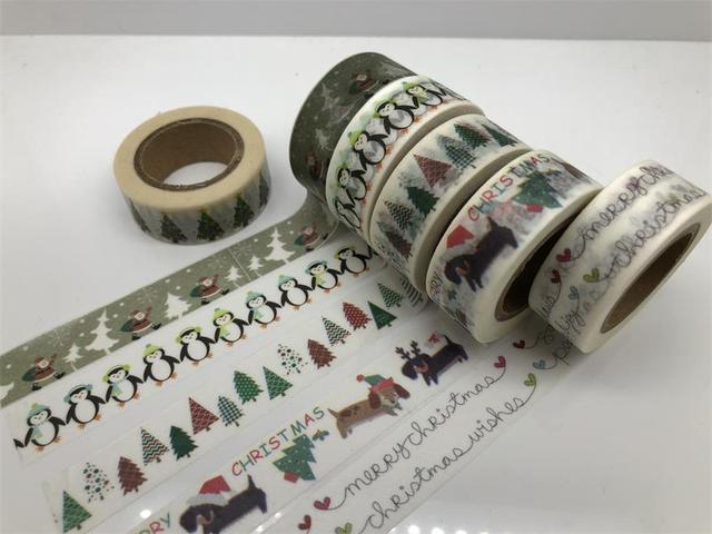 Frohe Weihnachten Band.Jiataihe Weihnachten Washi Band Frohe Weihnachten Baum Washi Tape Japanischen Reis Papier Druck Masking Tape Kostenloser Versand