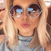 2017 Fashion Sexy Cat Eye Sunglasses Brand Design Women Coating Reflective Mirror Diamond Decoration Glasses Female Shades UV400