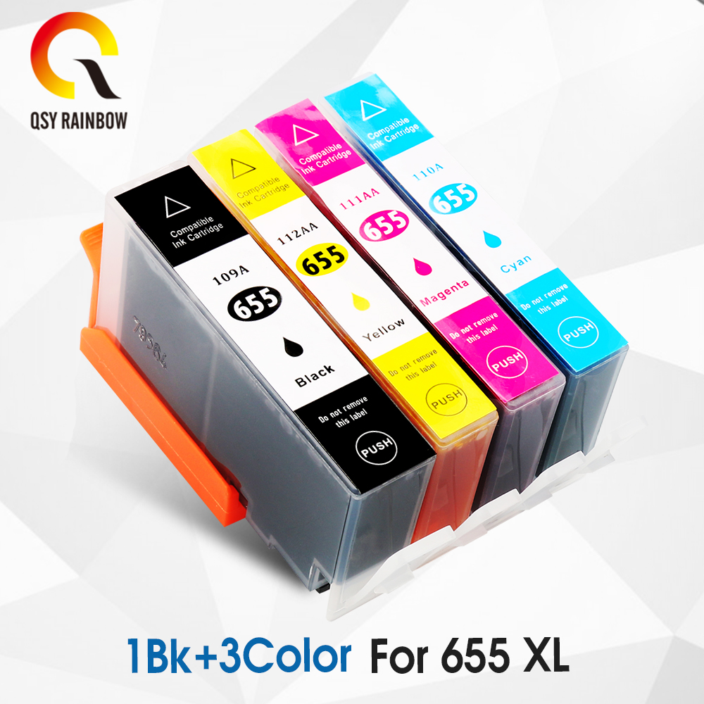 CMYK SUPPLIES Compatible 655xl replacement for <font><b>hp</b></font> <font><b>655</b></font> ink <font><b>cartridge</b></font> for <font><b>hp</b></font> Deskjet Ink Advantage 3525/4615/4625/5525/6520/6525 image