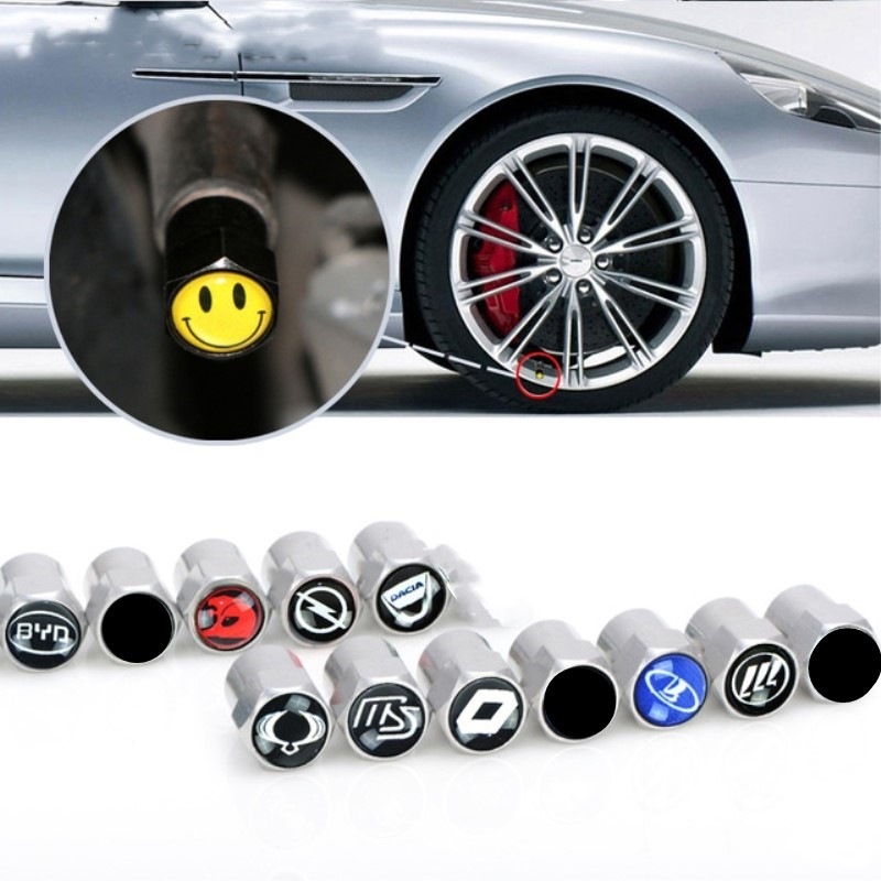 4pcs New Metal Wheel Tire Valve Caps Stem case for VW Honda Renault TOYOTA opel lada Peugeot Chevrolet audi BMW car accessories