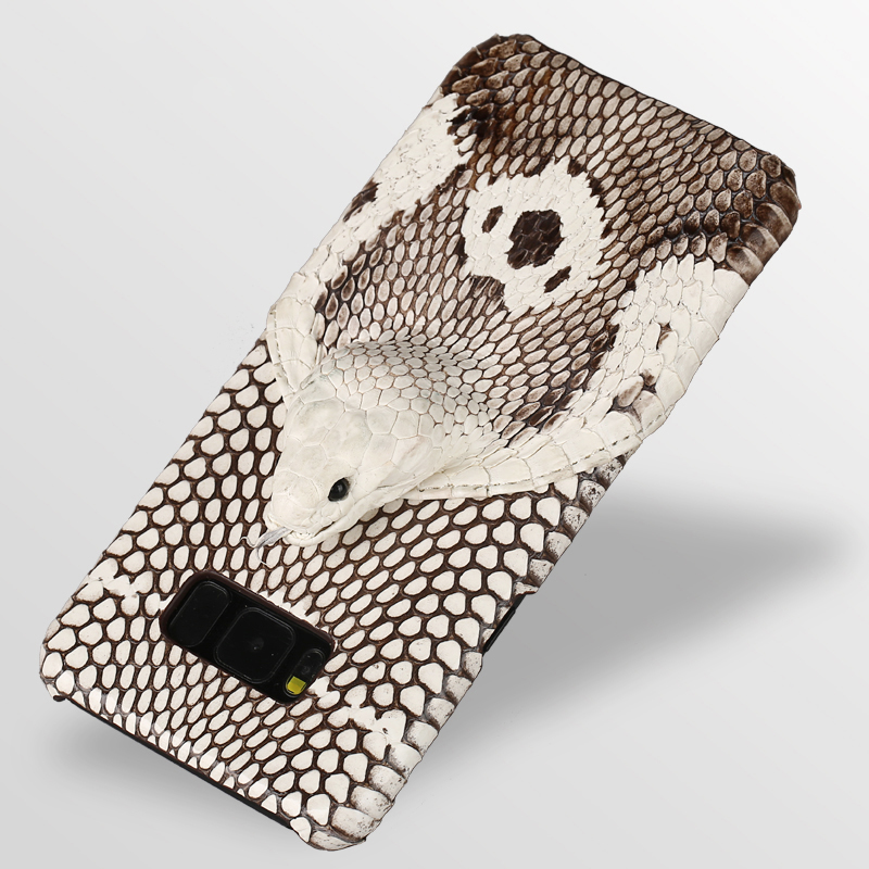 Genuine Leather Snakeskins phone case For Samsung s10 s7 s8 s9 3D snake head Luxury cover for galaxy a70 a50 a40 a30 a8 a7 2018
