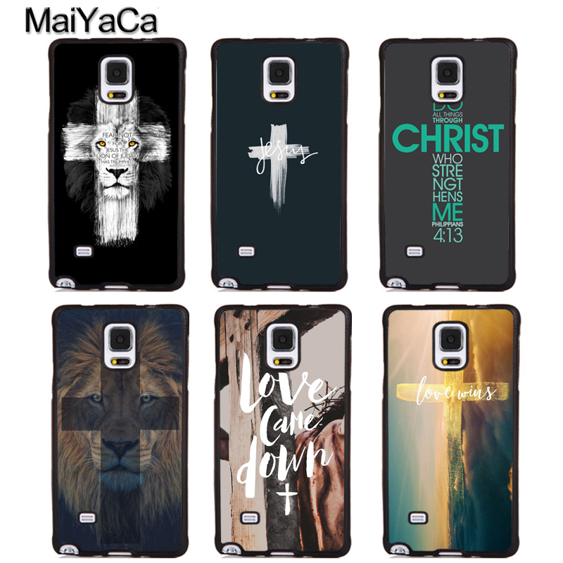 MaiYaCa Bible Jesus Christ Christian Cross Phone Cases For Samsung Galaxy S5 S6 S7 edge Plus S8 S9 plus Note 3 4 5 8 Cover Shell