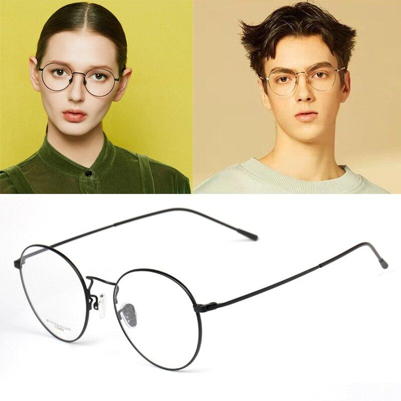 High Quality Retro Round Eyewear Optical Prescription Glasses Frame Men Lightweight Myopia Spectacle Frame Women Oculos