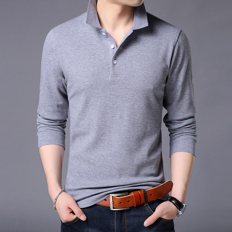 2020 New Fashion Brands Polo Shirt Men's Cotton Long Sleeve Slim Fit Korean Boys Boyfriend Gift Poloshirt Casual Men Clothes