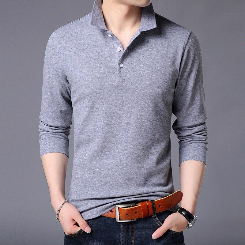2019 New Fashion Brands   Polo   Shirt Men's Cotton Long Sleeve Slim Fit Korean Boys Boyfriend Gift Poloshirt Casual Men Clothes