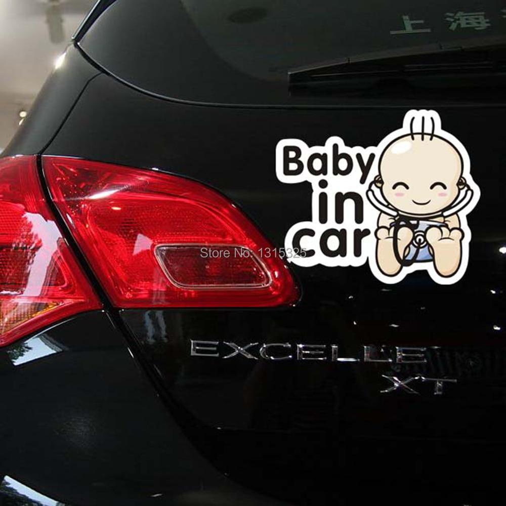 Toyota car sticker designs - Newest Design Baby In Car Sticker Warning Decal For Toyota Ford Focus Volkswagen Skoda Polo Golf
