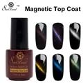 Saviland 1pcs Transparent Permanen Magnet Cat Eye Top Coat Esmaltes Nail Gel Polish Long Lasting UV LED Gel Varnishes