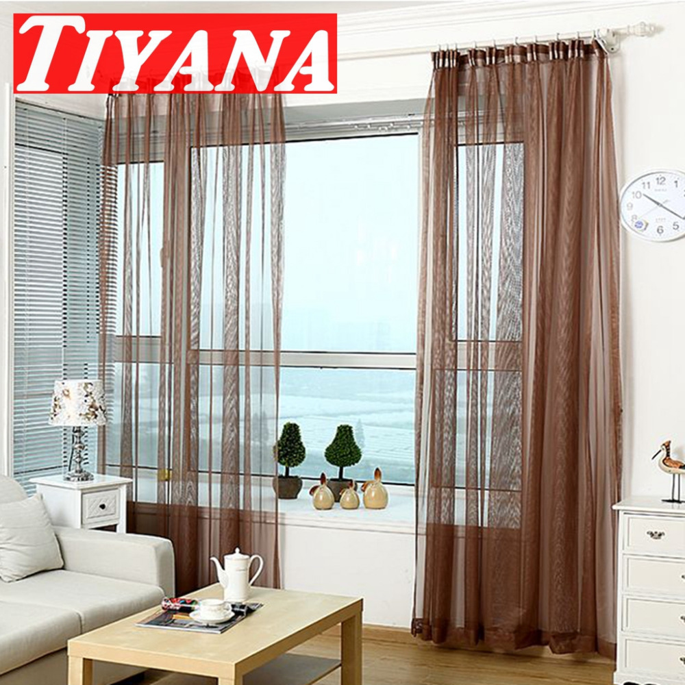 Modern Style Curtains Living Room. Modern Style Curtains Living Room  American Curtain Tulle Solid Sheer Part 62