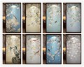 custom size window film for glass door wardrobe home decor Opaque frosted static cling Birds