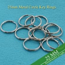 25 мм Металлические брелки для ключей, ширина 1 дюйм, Сталь кольца для ключей для брелок для ключей