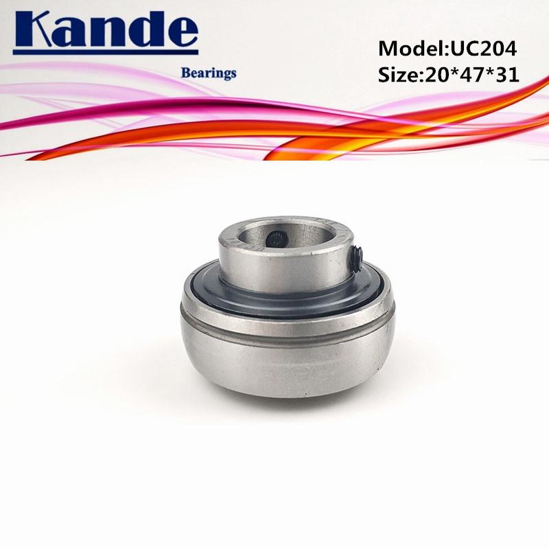 Kande Bearings 1pc UC 204  20*47*31mm  /  1pc UC204-12 ID:  3/4 in   pillow block bearing UC204 UC 204-12