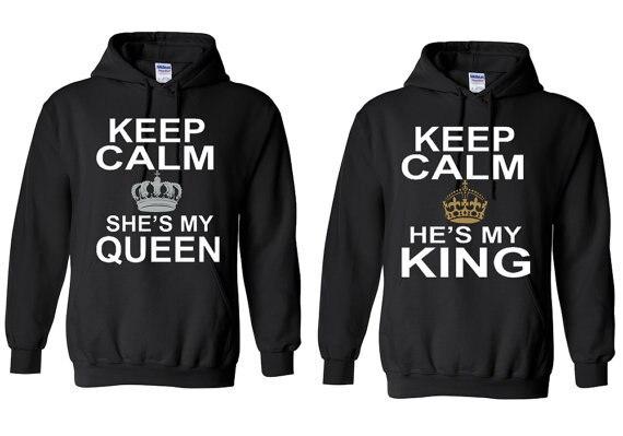 Ella es mi reina pareja sudadera él es mi rey pareja