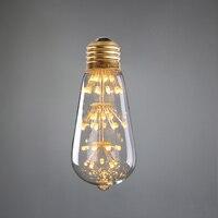Новое поступление, 3 Вт, винтажные фейерверк, ST64 Эдисон стиль, 110 В 220VAC, теплый желтый, декоративное освещение ресторан-бар