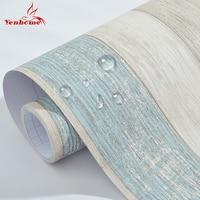 3 Mt Vintage Vinyl Holz selbstklebende Tapete Möbel Erneuern Schlafsaal Schlafzimmer Tapeten Wasserdicht Dekorative Wandaufkleber