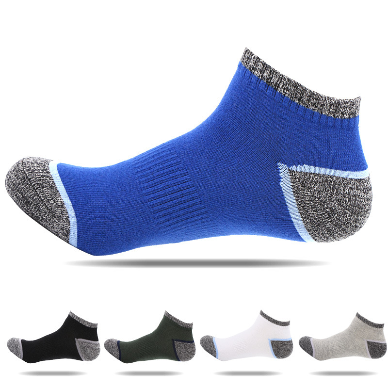 5pairs/lot Men Low Cut Sports Socks Cotton Compression Running Socks Professional Running Basketball Cycling Skiing Sport Socks