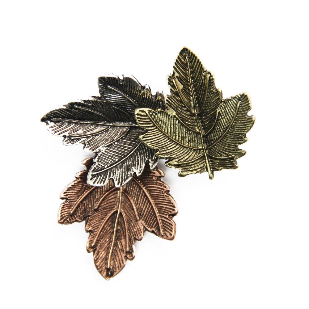 ④Canlyn 3 colores primavera hojas broche Pasadores camisa unisex ...