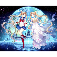 Pretty anime girl diamond Embroidery diy painting mosaic diamant 3d cross stitch pictures H653