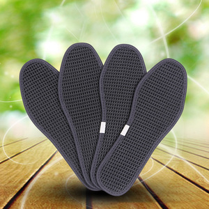 Image 4 - Cushion Bamboo Charcoal Sports Foot Antibacterial Unisex Breathable Shoe Pads Ice Silk Insoles Care Outdoor Dry Deodorant Hiking