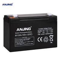 6V 12AH battery for backup power LED diode emergency light children's toy car lead acid battery replacement maintenance