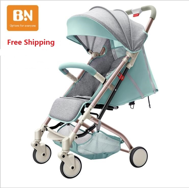 Free shipping New-Design New Color Light Baby Stroller Portable Fashionable Pram on 2017 to 201 new