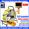 Pipe Inspection 7mm Fiber 80m Cable Reel With A Digital Meter Counter And Pan Tilt Rotating