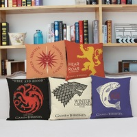 Song Of Ice And Fire Game Of Thrones Cushion Cover Sofa Decorative Throw Pillowcase HomeChairCarSeatCojinesalmofadas Gift