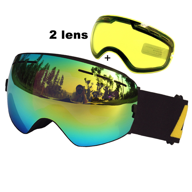 último clasificado comprar el más nuevo mejor coleccion € 17.65 42% de DESCUENTO|Aliexpress.com: Comprar 2 lente gafas de esquí  Anti niebla gafas de esquí Spherica UV400 Ski Snowboard Motocross gafas de  ...