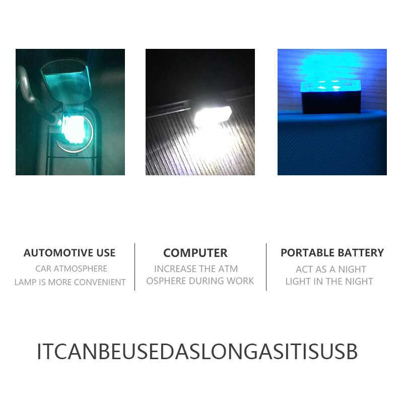 5 colores estilo de coche USB atmósfera lámpara LED para Renault Megane 2 Logan Captur Alfa Romeo 159 Chevrolet Cruze de coche accesorios