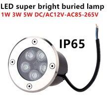 Водонепроницаемый Mini1W 3W 5W светодиодный подземный светильник, напольный светильник для наземного сада, напольный светильник для улицы, подземный светильник для двора, ландшафтный светильник