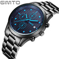 GIMTO Luxury Watch Brand Quartz Watch Men Steel Fashion Clock Male Waterproof Luminous Watches With Complete Calendar GM213